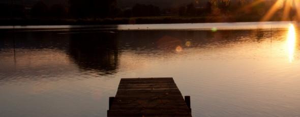 Indian Summer im Harz – Tour 5 Sonnenuntergang am Teich